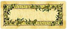 Dekolust Küchenläufer 180x50 cm Oliven Fußmatte Küchenteppich