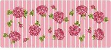 Dekolust Küchenläufer 180x50 cm Rosen Fußmatte