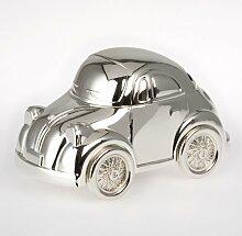 Dekolust Spardose Auto Versilbert Retro Silber