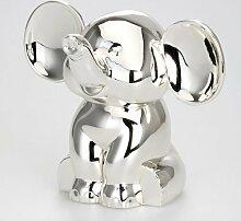 Dekolust Spardose Elefant Metall Silber