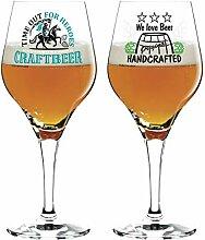 Dekomiro Ritzenhoff Craft Beer Design Bierglas 2er