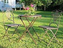 dekoo24 Balkonmöbel Metall Set Gartenmöbel