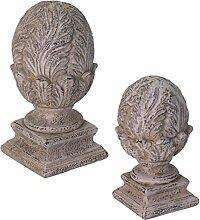 Dekoobjekt CYPRES - Dekofigur aus Keramik - Zapfen