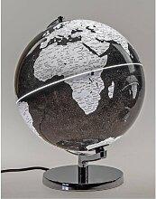 Dekoobjekt, Lampe Globus H. 33cm mit Licht schwarz