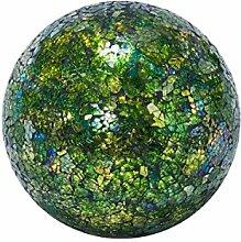 Dekoobjekt Mosaik-Kugel - Glas - Grün - Größe klein