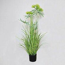 Dekopflanze Kunstgras im Topf Größe wählbar grün Gräserbüschel Ziergras Gräser, Größe:XS