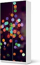 Dekor für IKEA Pax Schrank 201 cm Höhe - 2 Türen   Muster Möbel-Sticker Folie Möbelfolie selbstklebend   Wohnung aufpeppen Dekoartikel   Design Motiv Sparkling Lights