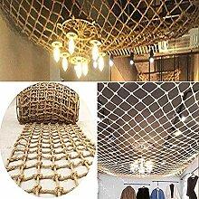 Dekor Netz, Retro Decke Jute Weave