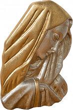 Dekoration ?Gesicht der Madonna? aus Holz mit