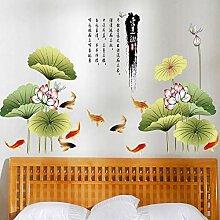 Dekoration Große Lotus Blume Wandaufkleber