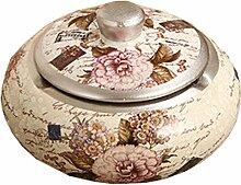 Dekoration Handwerk Keramik Retro Aschenbecher Rauchen Aschenbecher mit Deckel 16 * 16 * 0.8CM