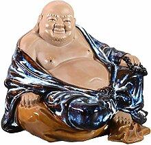 Dekoration Happy Buddha/Figur/Skulptur sitzend