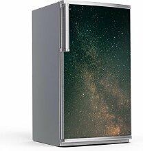 Dekoration Kühlschrank 60x120 cm | Kühlschrankfront Klebefolie Sticker Aufkleber kreativ einrichten dekorieren Klebeposter | Design Motiv Stars