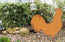 Dekoration Metall Huhn rostig 57 x 55 cm