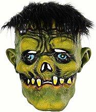 Dekoration Scary Green Face Monster Maske mit