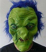 Dekoration Scary Monster Maske mit Blauem Haar