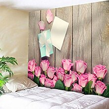 Dekoration- Tapisserie Blumenmuster Opaque
