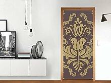 Dekoration Türe - für Tür Standardgröße (Größe: 83,5 x 197 cm) | Klebefolie Sticker Aufkleber Tapete kreativ einrichten dekorieren Riesen Poster Tür | Design Motiv Retro Revival