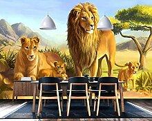 Dekoration Wandbilder Tapete Tier Löwe Cartoon