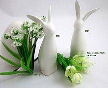 Dekoration zu Ostern Keramik 1 Hase 19cm basic