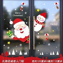 Dekorationen Weihnachtsmann Fenster Glastür