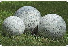 Dekorations Kugel grau für Haus und Garten 18 cm