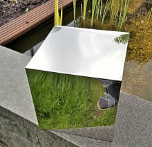 Dekorations-Quader Würfel 40x40x40 cm Edelstahl