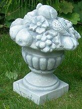 Dekorationselement Amphore mit Früchten Höhe 35