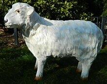 Dekorationsfigur Schaf Lamm stehend H 38 cm