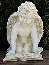 Dekorationsfigur Statue Engel sitzend knieend mit