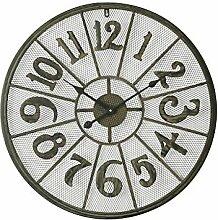 Dekorationsuhren 70cm große Metall Wanduhr Antik