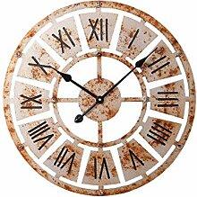 Dekorationsuhren Große Holz Wanduhr Antik Vintage