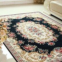 Dekorativ decken modernes teppich-teppiche für schlafzimmer wohnzimmer studieren einfach mittelmeer nordic chinese restaurant bett maschine waschbar-D 160x230cm(63x91inch)
