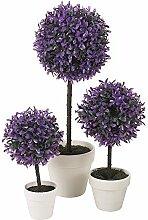 DEKORATIV KÜNSTLICH KUGEL PFLANZE - Lavendel, Large, 2 Plants