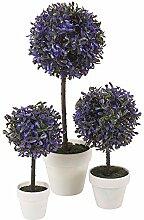 DEKORATIV KÜNSTLICH KUGEL PFLANZE - Lila, Large, 2 Plants