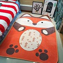 Dekorativ teppiche modern teppich baby matten für schlafzimmer wohnzimmer simple nordic couchtisch cartoon kinder's matratze tatami crawler pad nicht-slip waschbar-Fuchs 140x190cm(55x75inch)