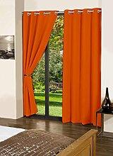 dekorative Blackout feste Tür / Fenster-Öse Baumwolle lushomes Vorhänge drapers - Grösse wählen