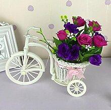 Dekorative Blumen Home Zubehör Kleine Auto Feng Shui Künstliche Blumen (sehr viel Farbe) Dekorative Fake Blumen Simulation Blumen Green Potted Wohnzimmer Schlafzimmer Einrichtungsgegenstände , E