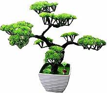 Dekorative Blumen Simulation künstliche blumen Künstliche Pflanze Blume Baum Grün Topf Wohnzimmer Tisch Dekoration Lucky Feng Shui deko green , green