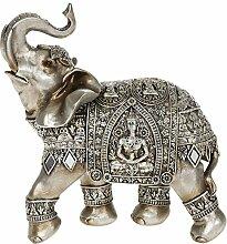 Dekorative Buddha-Elefant-Skulptur, Gold- Und