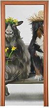 Dekorative Eingangstür Berner Sennenhund Shepherd