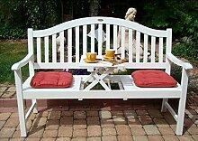 Dekorative Gartenbank mit ausklappbarem Tisch - 3