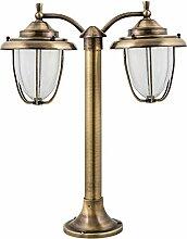 Dekorative Gartenlampe Stehend aus Messing Glas