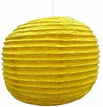 dekorative gelbe Papierlampenschirm Laterne festlich Partei Hängedekoration