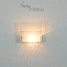 Dekorative Glas Wandleuchte Wandlampe mit E14