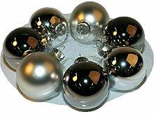 Dekorative Glas Weihnachtskugeln - Größe:
