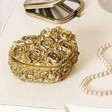 Dekorative Gold Herzform Schmuckkästchen,