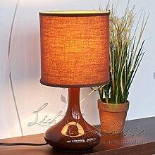 Dekorative Halogen-Tischleuchte 28 Watt in braun