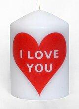 Dekorative Kerze I Love you Special Love Nachrich