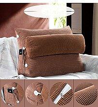 dekorative Kissen, Kissen nach Hause Dreieck Sofa Kissen Nachttisch mit Kopfkissen Kopfstütze Taille Bürostuhl Rückenlehne waschbar Stoff Kissen, Nackenkissen , ( Farbe : E , größe : Size60*25*50cm )